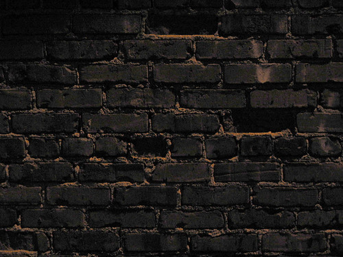 3d Effect Brick Stone Wallpaper Brick Wall At Night Illuminated By An Overhead