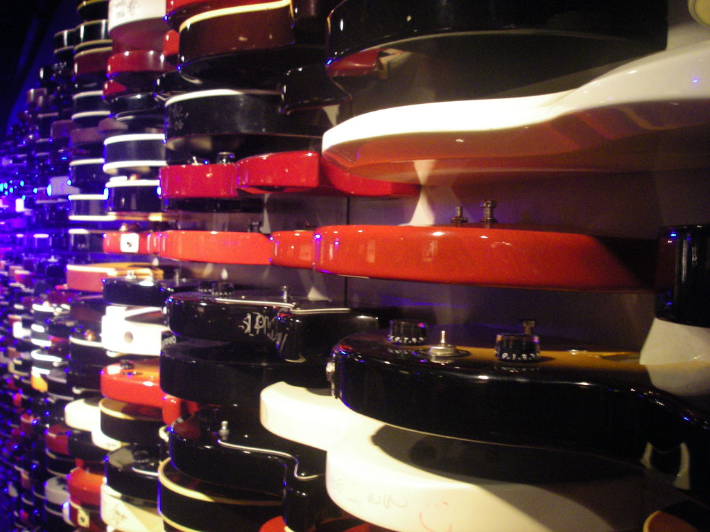 Rock N Roll Interieur Rock And Roll Guitar Wall Hard Rock Cafe Times Square
