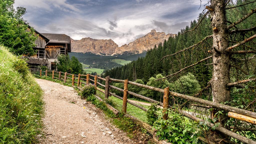 Winter Wallpaper 3d La Villa Trentino Alto Adige Italy Landscape Photogra
