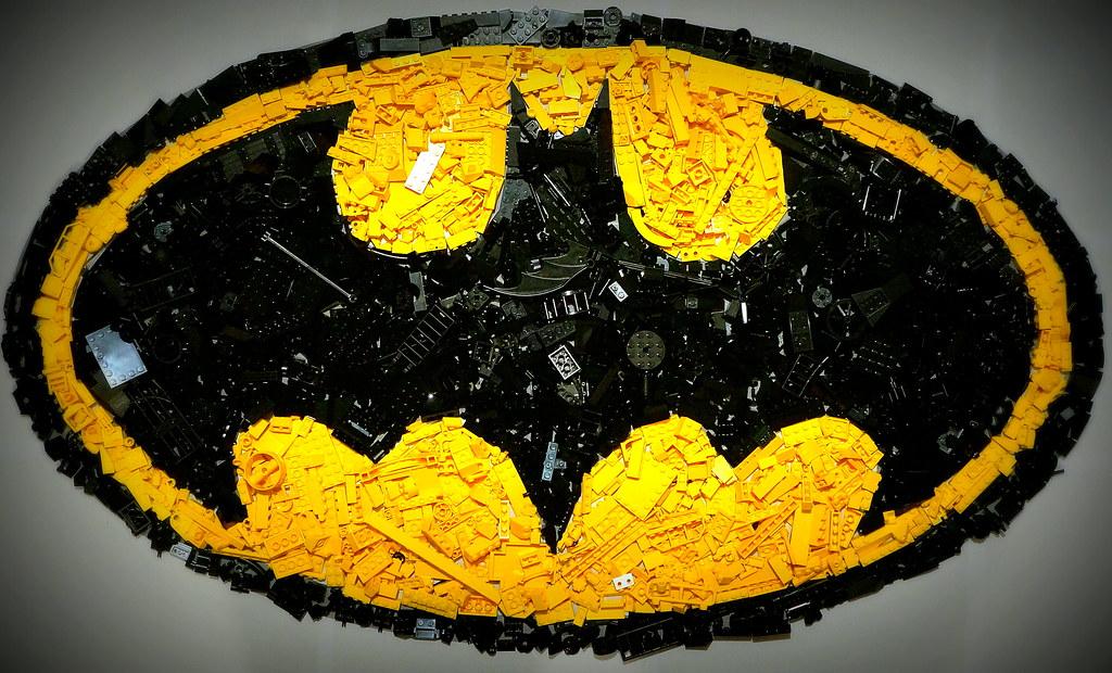 3d Colour Wallpaper Batman Logo Mosaic Was Colour Sorting Lego When I Got