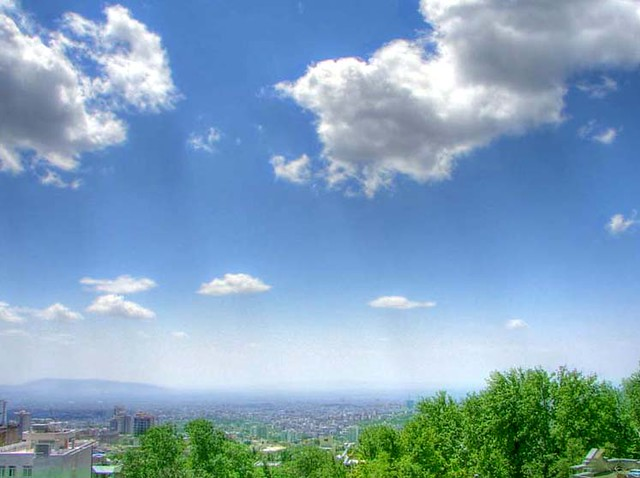 3d Wallpaper City View Tehran Sky Tehran S Sky Is Almost Hazy And Smoky Which