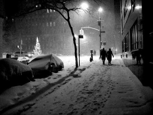 3d Wallpaper New York City Snow Couple Ii New York City In A Big Snowstorm Jan 05