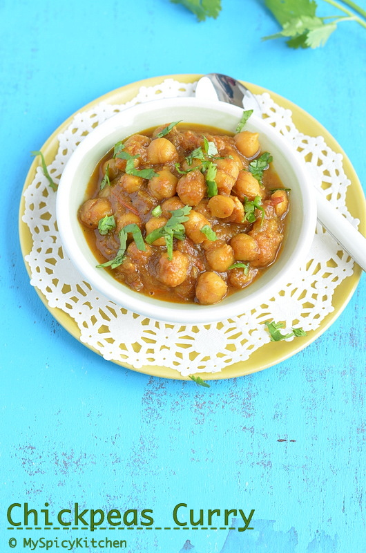 Chana Masala, Chole, Punjabi Chole, Punjabi Choley, Chickpeas Curry, Garbanzo Beans Curry, Cooking from Cookbook Challenge, CCChallenge,
