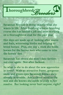 Blurb of New Blood (Thoroughbred Breeders #1) by Christine Meunier