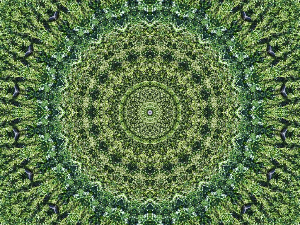 Tribal Pattern Wallpaper Hd Green Mandala Mandala Made With Mehdi S Kaleidoscope