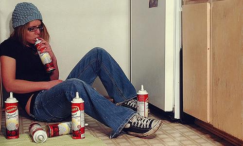 Example of teen huffer