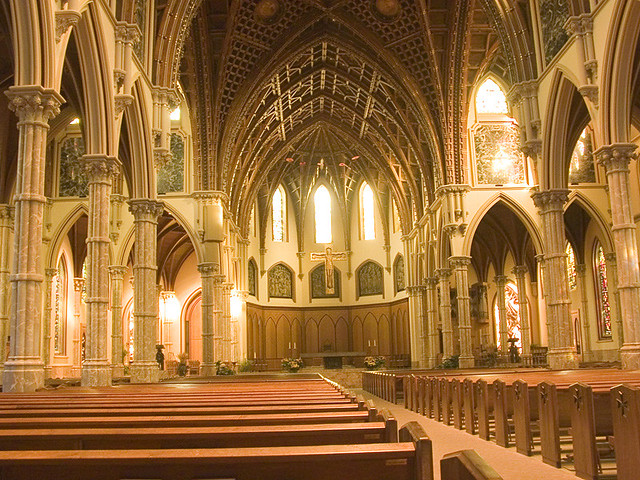 Great Chicago Fire  Holy Name Cathedral Chicago Bullying The Nuns By