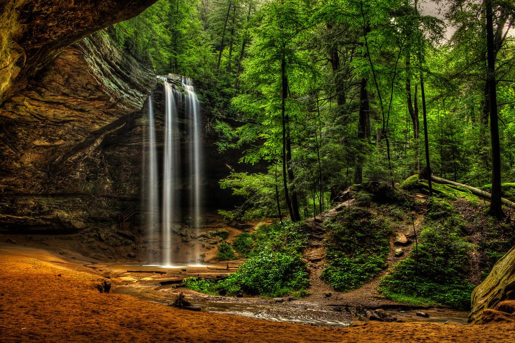 Desktop Wallpaper Hd Fall Ash Cave Ash Cave Hocking Hills State Park Logan