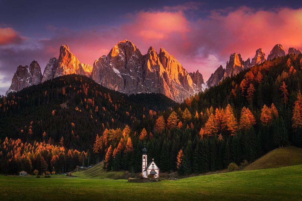High Resolution Wallpaper Fall Autumn Faith The Beautiful St Johann Church In The
