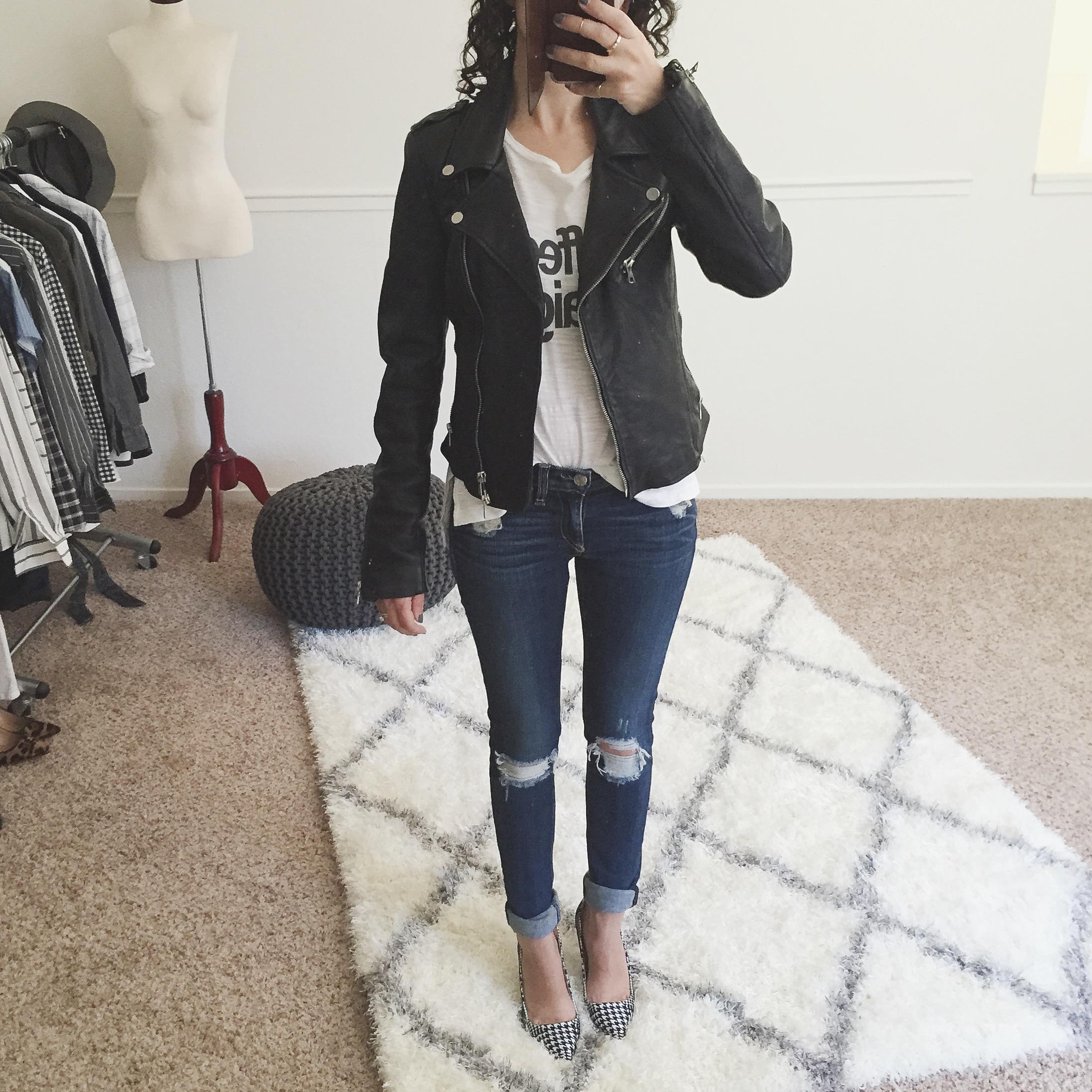 Zara trf leather biker jacket size xs