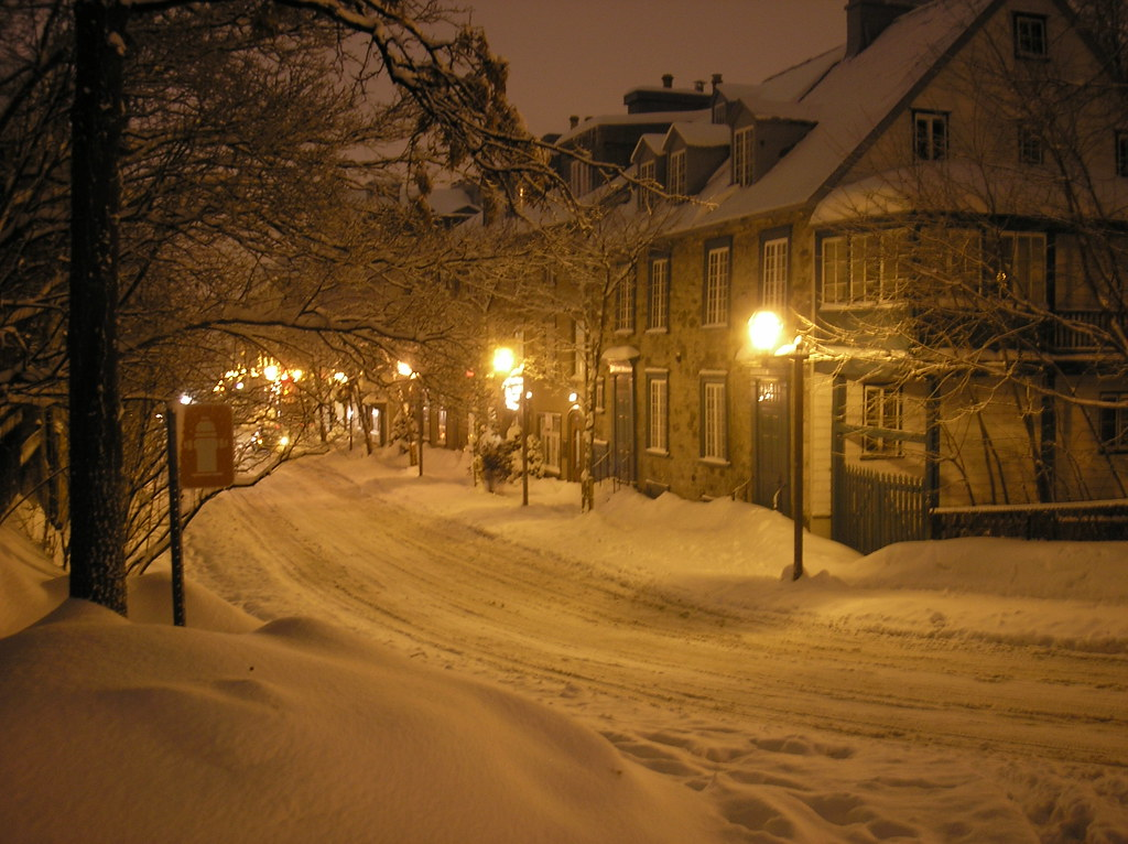 Free Winter 3d Desktop Wallpaper Snowy Night In Quebec City Christopher Mckenzie Flickr
