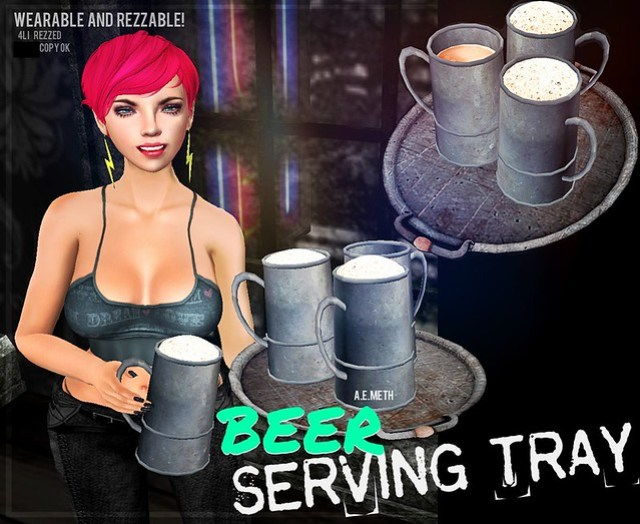 [ a.e.meth ] - Beer Serving Tray