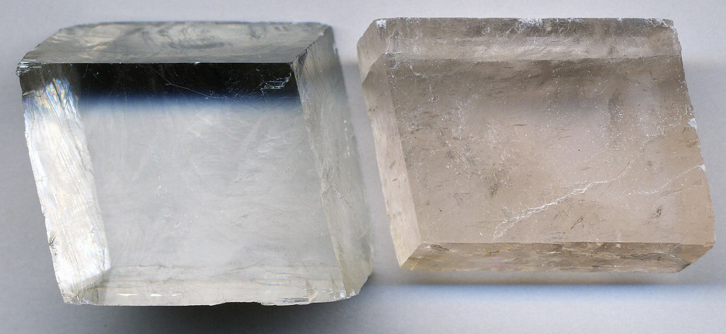 Light Planes Calcite | Rhombohedral Cleavage Fragments Of Calcite