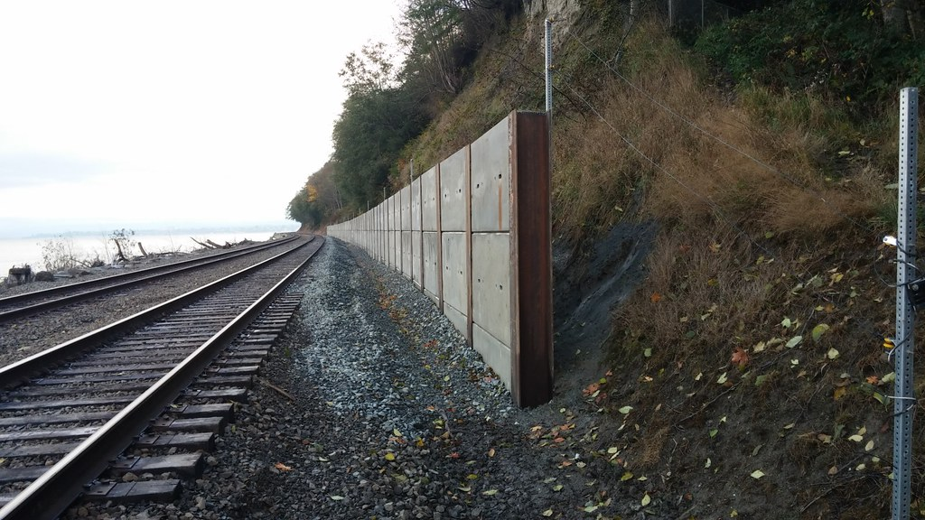 Metal Wall Covering Rail-- Landslide Mitigation Retention Wall | The Finished