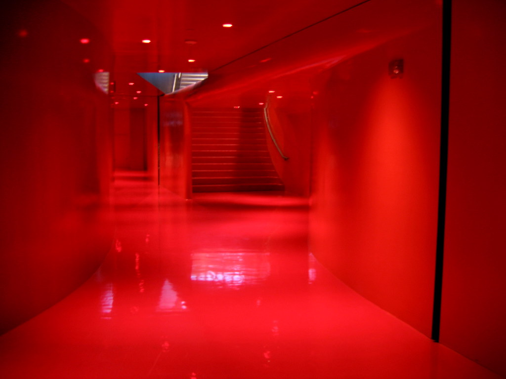 Babyzimmer Rot Red Room | Creepy Red Room At The Seattle Central Library