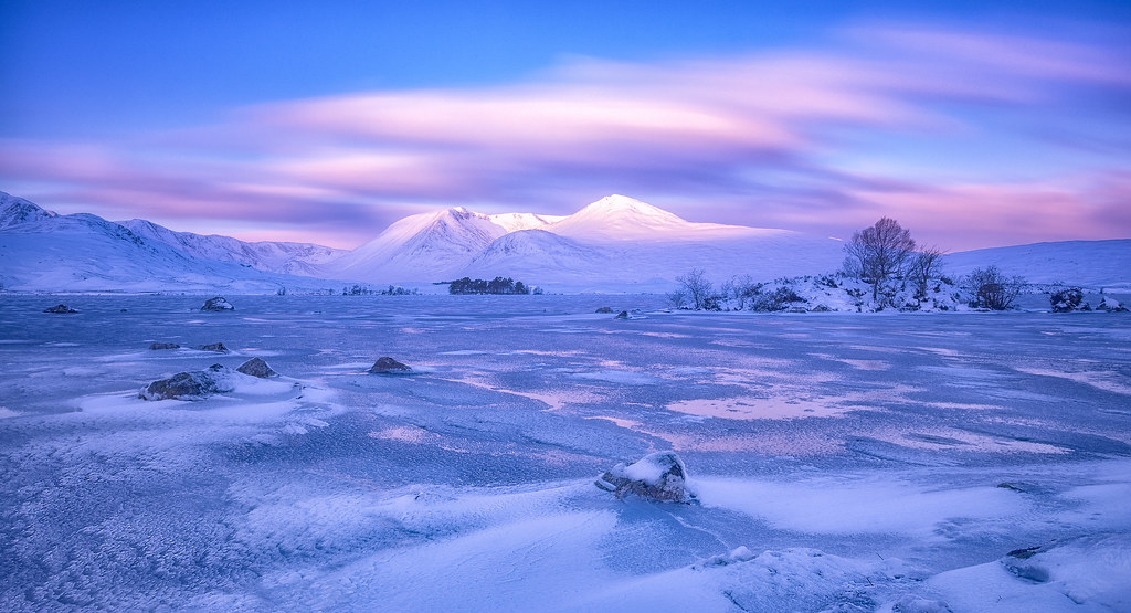 Black And Pink Wallpaper The Black Mount The Black Mount Mountains Across A