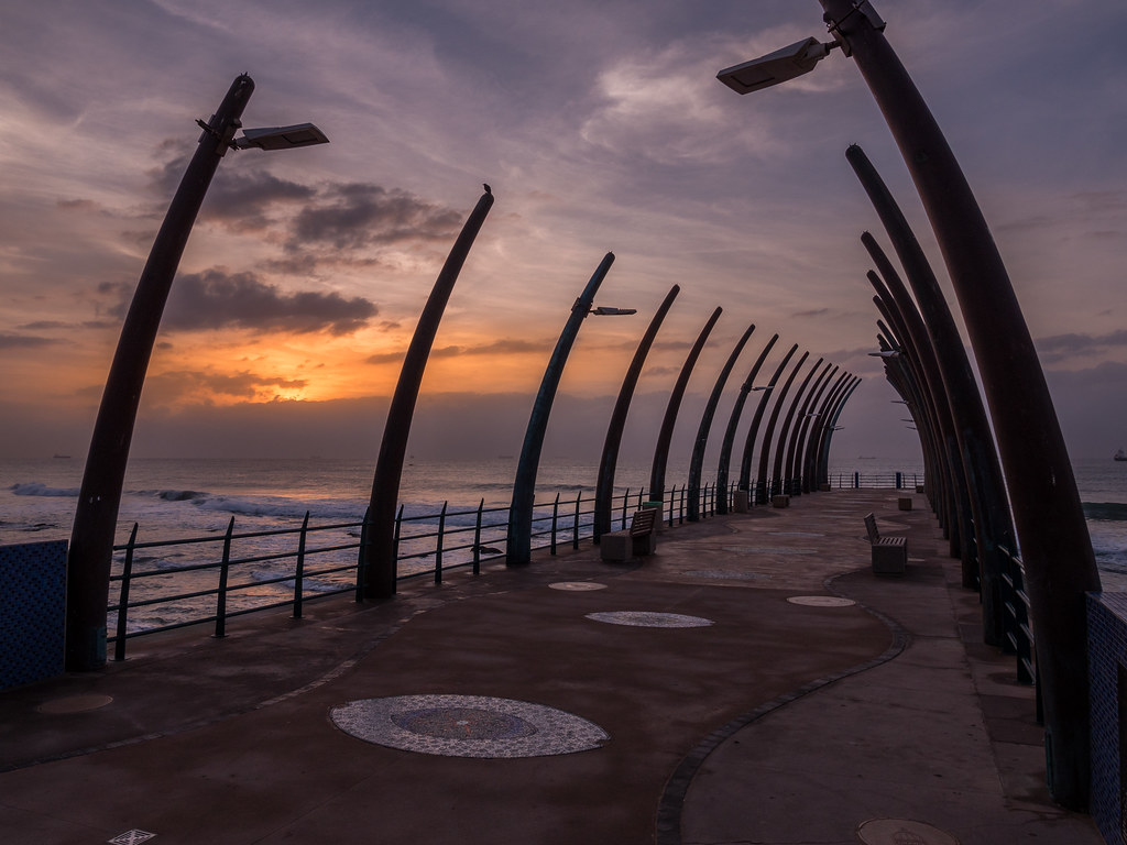 Wallpaper Sunset 3d Umhlanga Pier Durban Kwazulu Natal South Africa Flickr