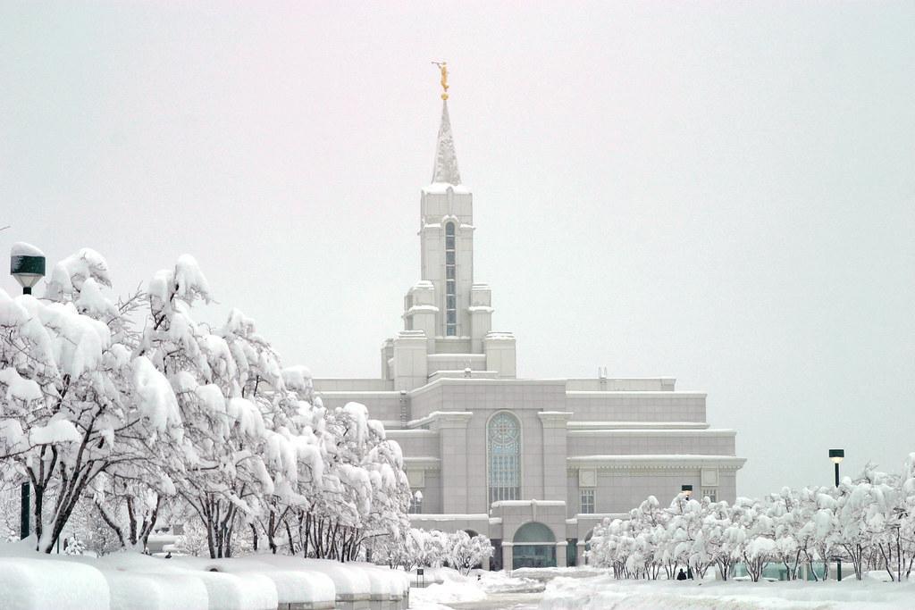 Iphone 4 Winter Wallpaper Bountiful Temple Bountiful Utah Temple Of The Church Of