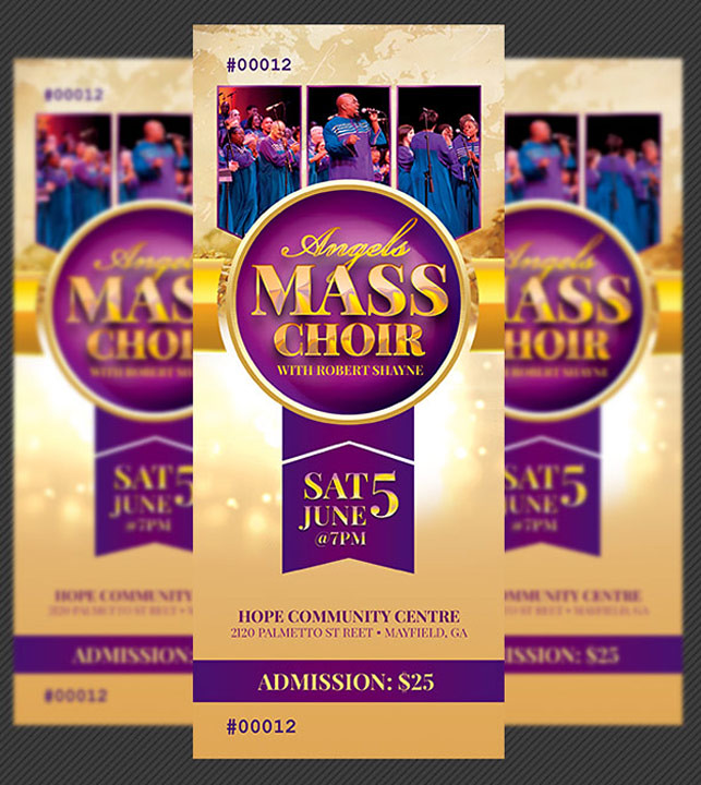 Mass Choir Concert Ticket Template Mass Choir Concert Tick\u2026 Flickr - Concert Ticket Templates