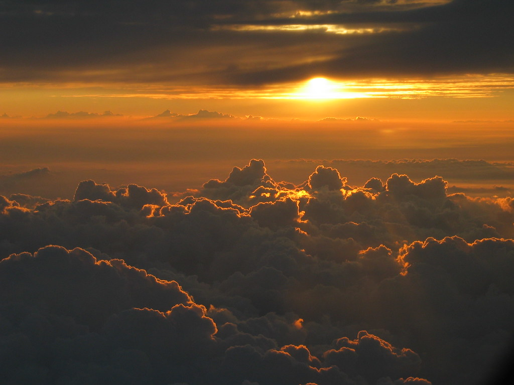 Plane 3d Wallpaper Sunset Above The Clouds C Image Fully Copyrighted