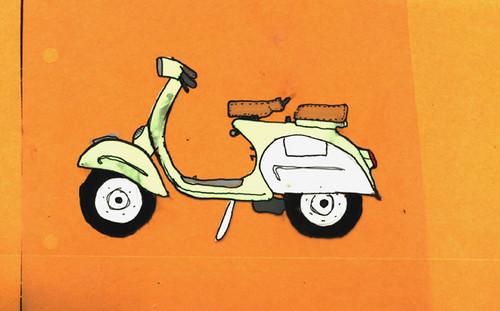 Wallpaper Hd King Vespa Cel This Cartoon Cel Was For Color Scheme Tests