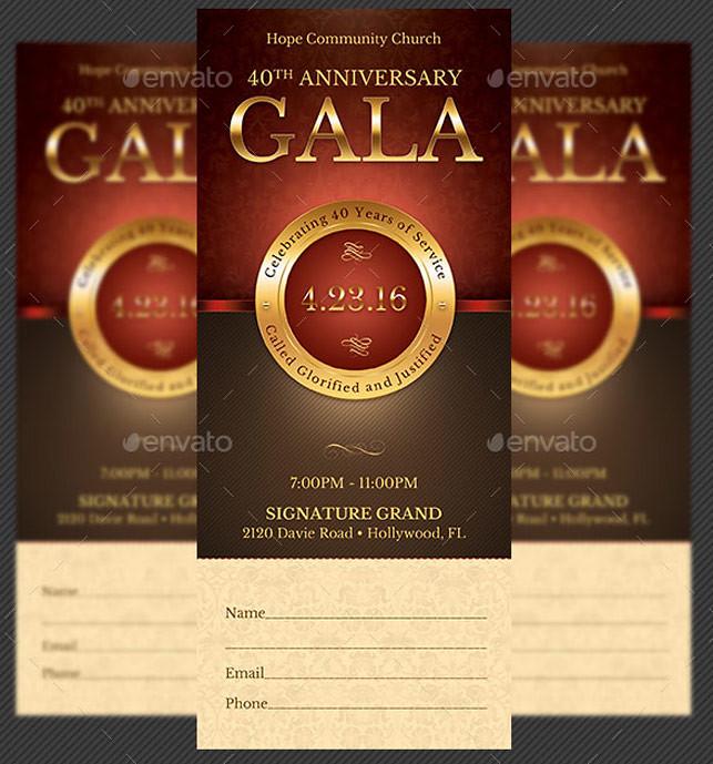 Church Anniversary Gala Ticket Template Church Anniversary\u2026 Flickr - Ball Ticket Template
