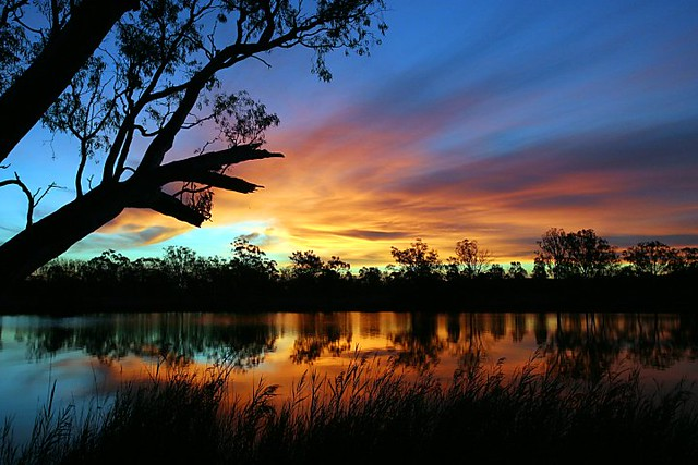 3d Sunset Wallpapers Free Murray River Sunset Nick James Flickr