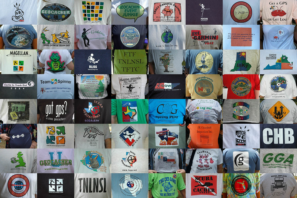 Free Download Wallpaper 3d Graphic Geocaching T Shirts A Mosaic Quot Poster Quot Of 64 T Shirts