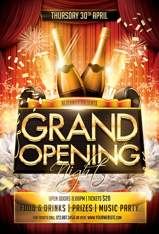 Grand Opening Night Flyer Template DOWNLOAD the Photoshop \u2026 Flickr - grand opening flyer