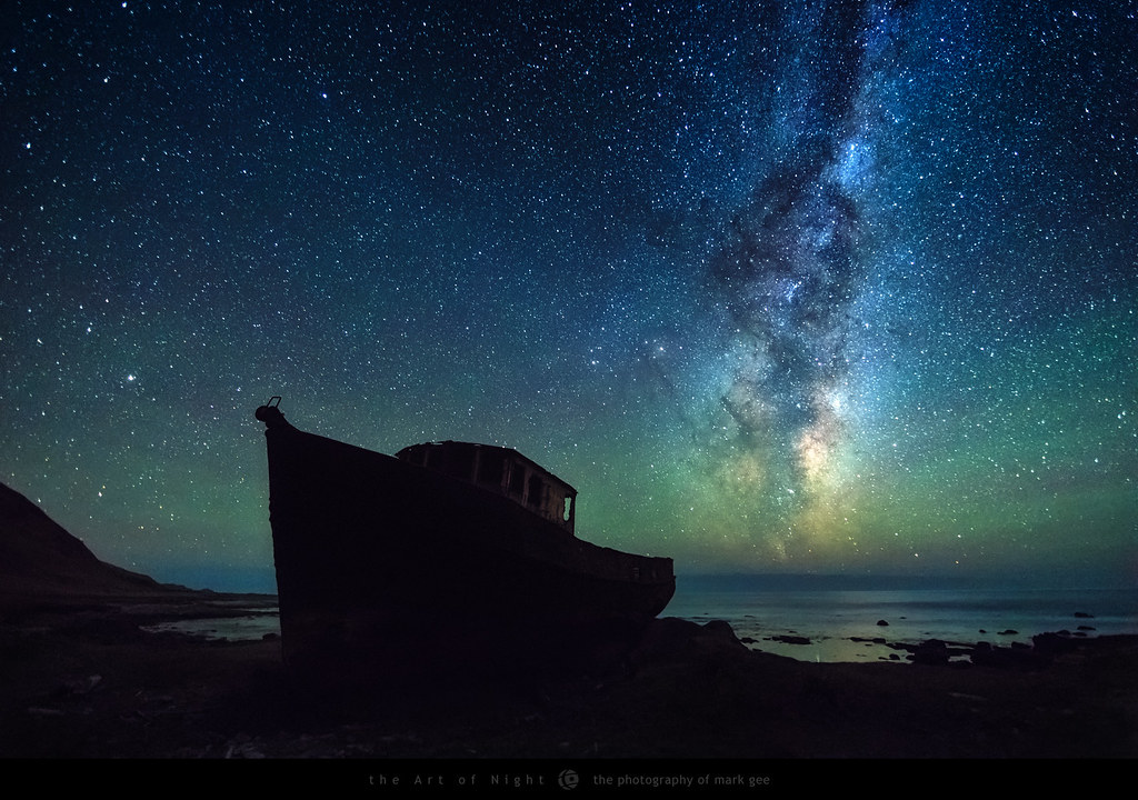 3d Galactic Wallpaper Abandoned An Old Abandoned Fishing Boat Sits Under A Sky