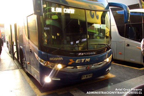 Buses ETM - Santiago - Marcopolo Paradiso 1800 DD / Scania (FYWS81)