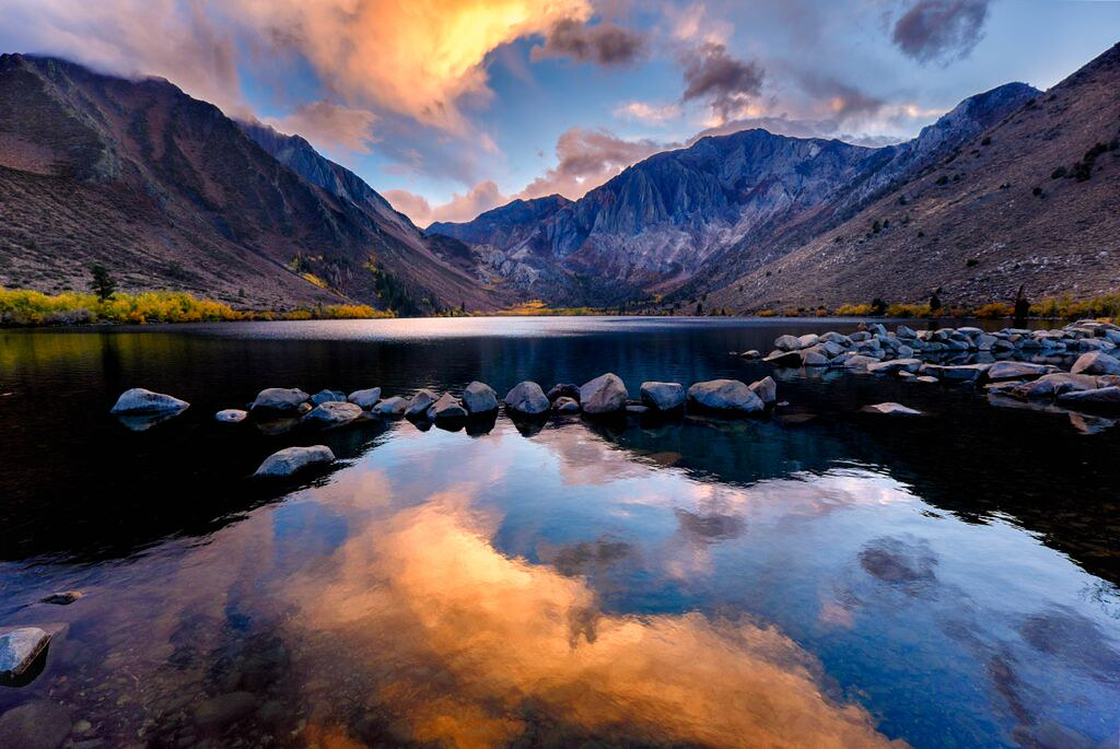 3d White Horse Wallpaper Convict Lake Sunset Got Really Lucky To Catch A Good