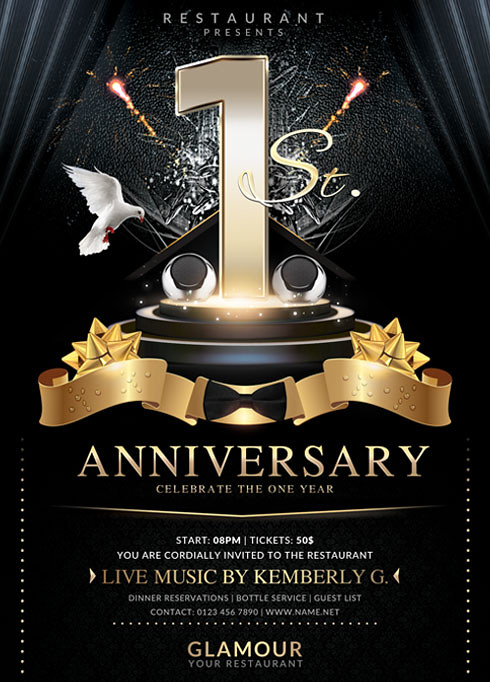 Anniversary Flyer Template You can DOWNLOAD the PSD file h\u2026 Flickr
