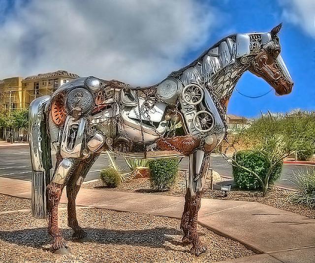 7 Horse Wallpaper 3d Horse Sculpture A Horse Sculpture In Fountain Hills Az