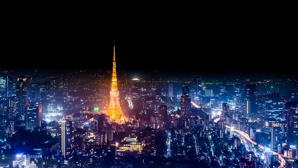 3d Name Wallpapers R Tokyo Skyline At Night 4k Wallpaper Desktop Background