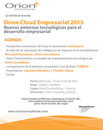 Orion evento