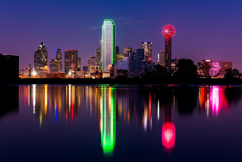 Purple 3d Wallpaper Dallas Skyline Daxis Flickr
