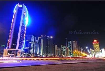 Qatar, Doha, West Bay skyline night view | bilwander | Flickr