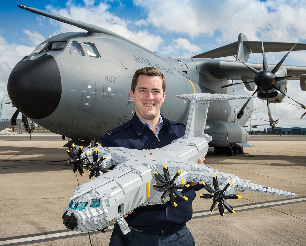3d Wallpaper Ship Lego A400m Model A400m With The Real Thing David Ayton