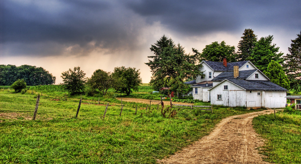 New England Fall Foliage Desktop Wallpaper Amish Home In Pennsylvania Countryside Large On Black