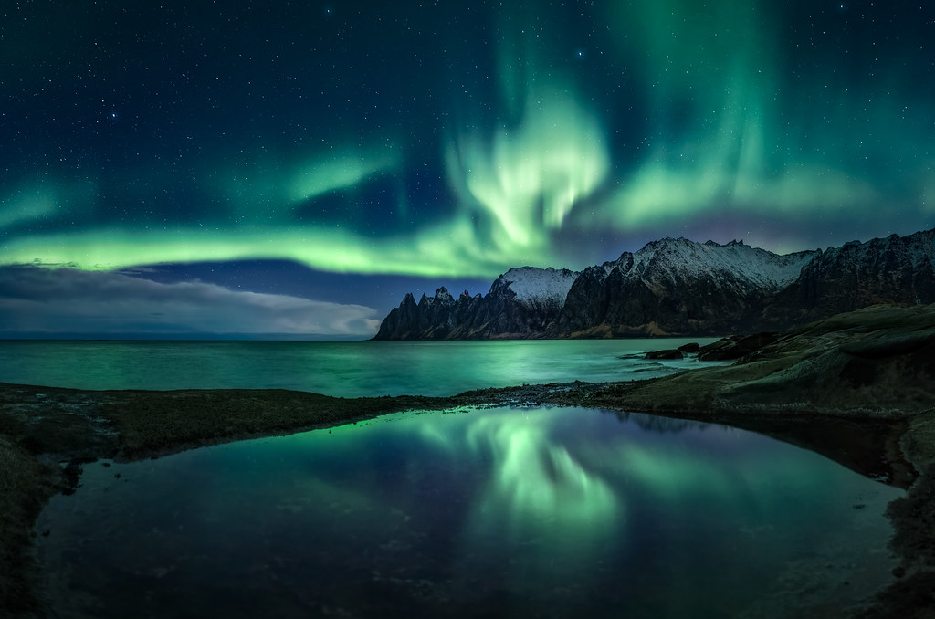 Winter 3d Live Wallpaper Senja Aurora Reflection Frenzy Featured On Front Page Of
