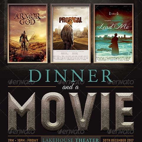 Dinner and a Movie #Flyer #Template   bitly/1VG9Pim \u2026 Flickr - Dinner Flyer