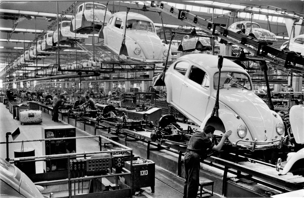 Volkswagen Beetle Assembly Line Alden Jewell Flickr