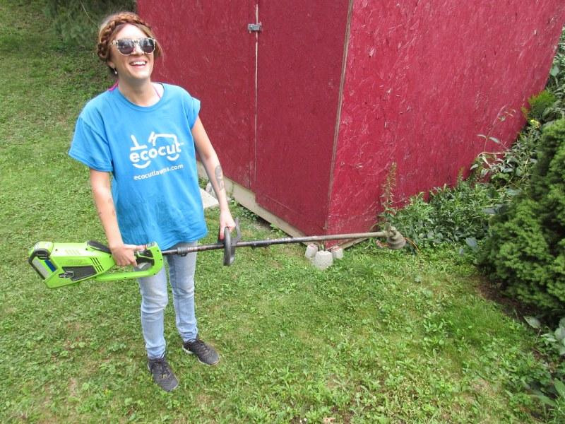 Raymi takes a break from Eco Cut Lawns