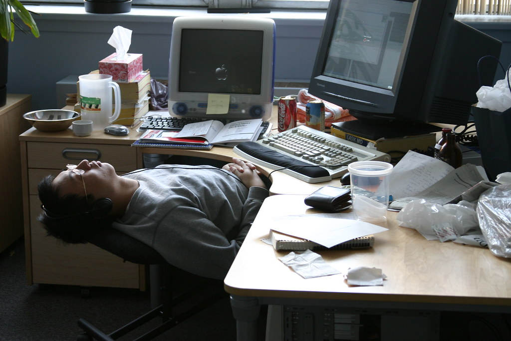 Animasi Tempat Tidur Zoning At The Office | Dave Coombs Took This Picture Of Me