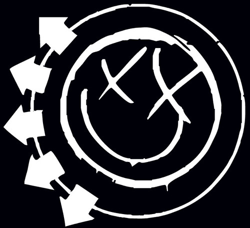 Fall Out Boy Logo Wallpaper Big Black N White Smiley In Memory Of The Late Blink 182