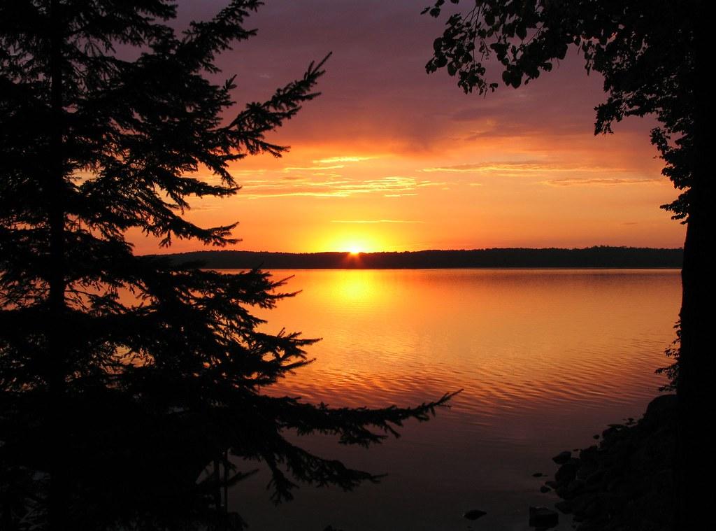 3d Bear Wallpaper Sunrise Over Leech Lake Near Walker Minnesota I Woke Up