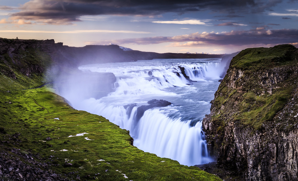 Fall 1080p Wallpaper Gullfoss Iceland A Midsummer Night At Mighty Gullfoss