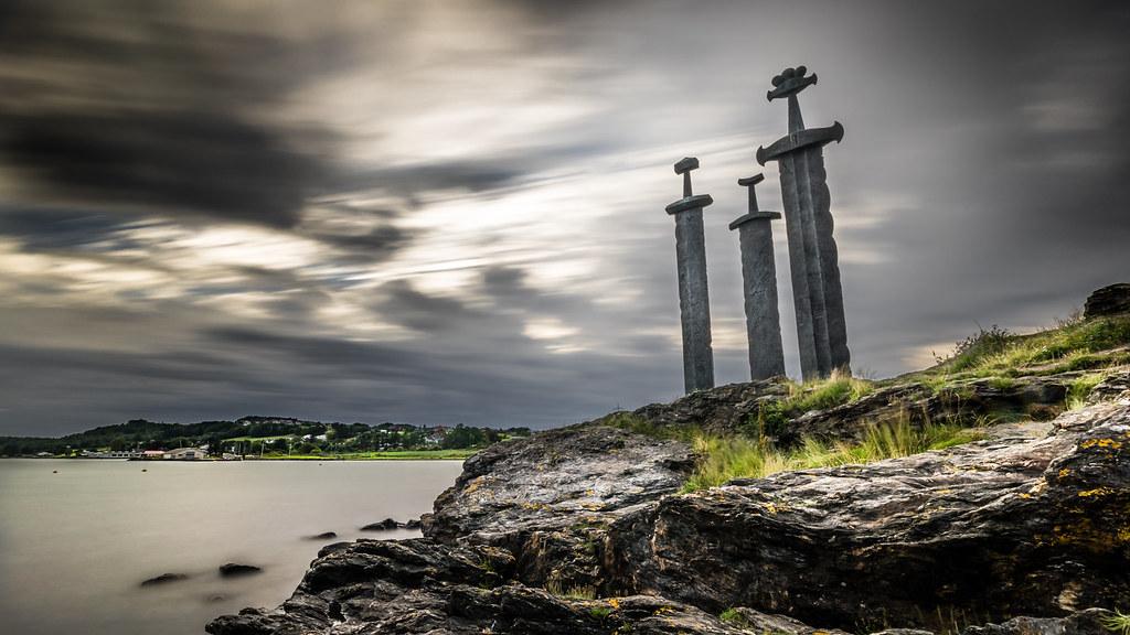 Wallpaper 3d Espada Sverd I Fjell Stavanger Norway Landscape Travel Phot