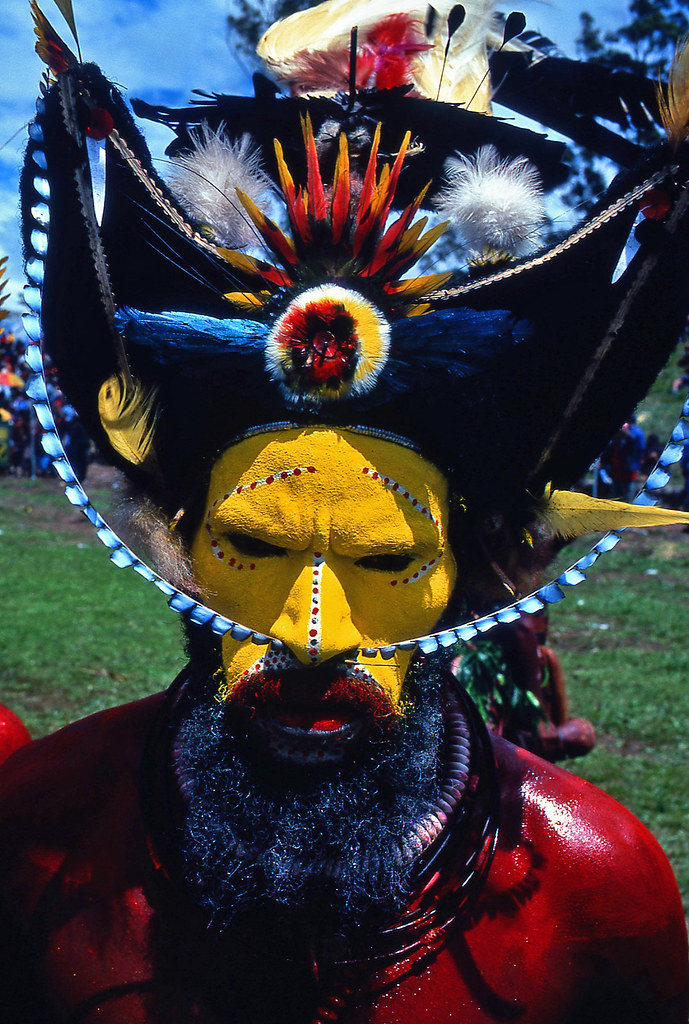 Hair Colors Photos Huli Tribe Papua New Guinea Huli Man The Nicest Tribe